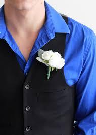 blue boutonniere white ranunculus s ear boutonniere diy wedding afloral