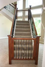 dressing up the lower level custome gate top of stairs or bottom