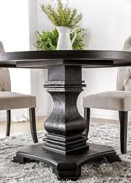 nerissa antique black round dining room set from furniture of