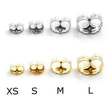 types of earring backs for pierced ears white gold earring backs ebay