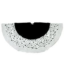 white tree skirt 48 black and white glittered polka dot christmas tree skirt with