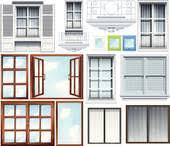 Different Windows Designs Clip Art Of Different Windows Design K17796088 Search Clipart
