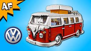 volkswagen bus painting lego creator volkswagen van 10220 speed build youtube