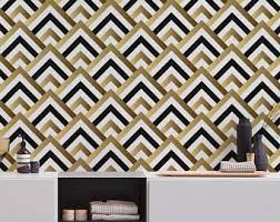 minimalistic art deco removable wallpaper self adhesive