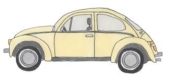 volkswagen bug drawing dizzy daisies punch buggy yellow