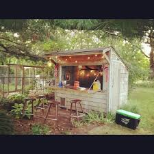 Building Backyard Shed by Shed Turned To Bar In 5 5 Hours Tiki Bar And Dock Our Cottage