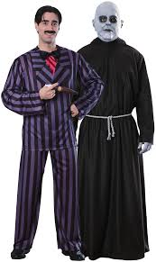 Adam Family Halloween Costumes by And Uncle Fester Addams Costume For Couples