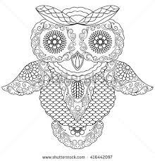 owl outline stock images royalty free images vectors