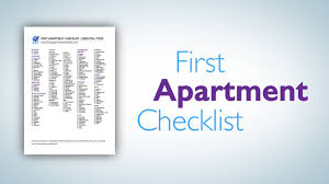 things you need for first apartment first apartment checklist a printable pdf checklist youtube