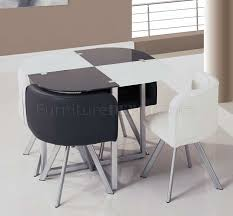 two toned black u0026 white 5pc dinette set w triangle chairs