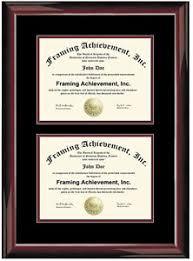diploma holder dual diploma frame degree certificate framing two document