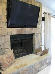 stone fireplace with tv home ideas pinterest stone