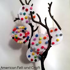 pom pom ornaments american felt craft