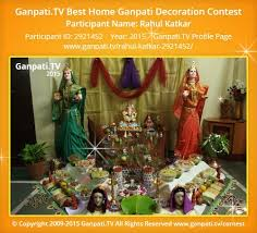 Home Ganpati Decoration Rahul Katkar Ganpati Tv