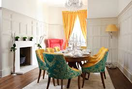 Curtain Rosettes Decorating With Tall Vases Dining Room Transitional With Drapery