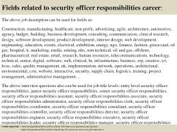 Security Officer Job Description For Resume Writing The Critical Essay Animal Rights Apa Format Quantitative