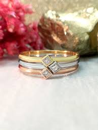 stackable diamond rings stackable diamond rings princess cut diamond solitaires solid