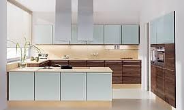 küche in u form u form küche linee in nussbaum und hochglanz weiß