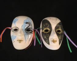ceramic mardi gras masks for sale decorative wall mask etsy