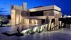 stunning modern contemporary concrete residence in pozuelo de
