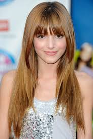 hairstyles for straight across bangs bella thorne long hairstyle with bangs