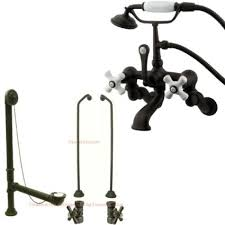 Oil Rubbed Bronze Clawfoot Tub Faucet Buy Oil Rubbed Bronze Wall Mount Clawfoot Tub Faucet Package W
