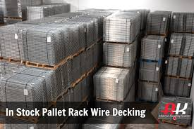 Used Steel Shelving by Use Pallet Rack Wire Decks To Maximize Shelving Safety