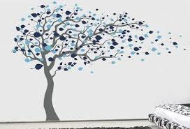 tree blowing in the wind 83 h wall decals