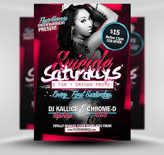 saturdays flyer template psd photoshop flyer template