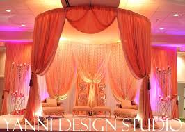 wedding arches chicago large gold indian wedding mandap with touches of lace in chicago