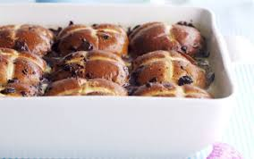 Bun Butterer Chocolate Cross Bread And Butter Pudding Recipe Goodtoknow