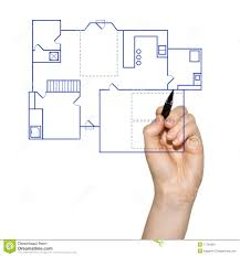 House Blue Print by Hand Drawing A House Blueprint Stock Image Image 17704261