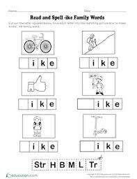 word families worksheets u0026 free printables education com