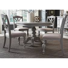 pedestal table with chairs summer house dove grey round 5 piece pedestal table set free
