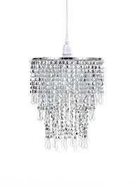How To Make A Beaded Chandelier Waneway 3 Tier Beads Pendant Shade Ceiling Chandelier Lampshade
