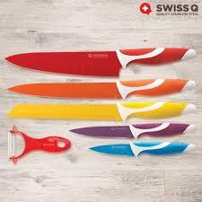 swiss q 6 stainless steel knife set misterdiscount