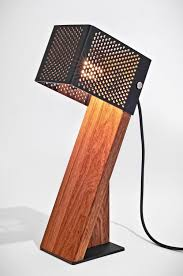 oblic table lamp is handcrafted from contrasting materials u2013 moco