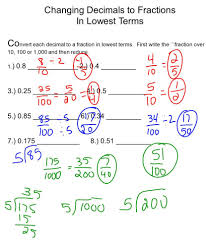 converting fractions to hundredths a decimals worksheets 8th grade
