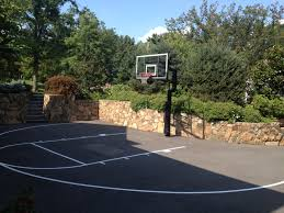 triyae asphalt basketball court in backyard various design