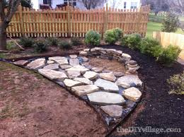 Slate Rock Patio by Building A Stacked Stone Fire Pit The Diy Village