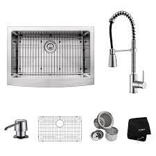 Kitchen Sink And Faucet Combo Kraus Khf200 30 Kpf1612 Ksd30ch 30 Inch Farmhouse Single Bowl