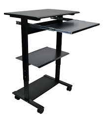 Computer Desk With Adjustable Keyboard Tray Adjustable Computer Desk Mobile Standing Computer Workstation