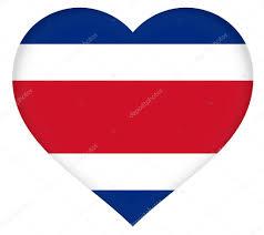 Costarica Flag Flag Of Costa Rica Heart U2014 Stock Photo Diverroy 123242972