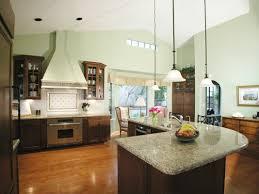 l shape kitchen decoration using white wooden kitchen vent hood