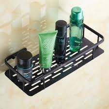 rectangle black oil rubbed bronze bathroom wall shelves