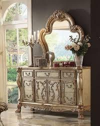 sofa dresden dresden sofa in gold patina finish by acme 53160