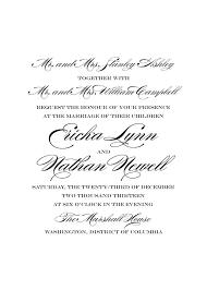 Wedding Invitations Examples Traditional Wedding Invite Wording Vertabox Com