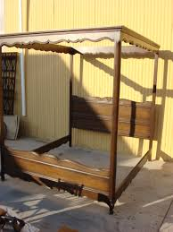 antique canopy bed french antique canopy bed california king sized french bed