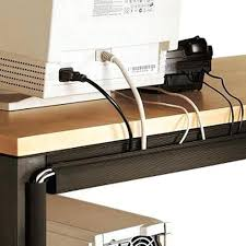 Office Desk Tray Office Desk With Cable Management Space Saving Ideas To Get