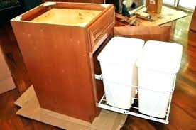 trash cans for kitchen cabinets kitchen cabinet trash can hardware trash can in cabinet trash can